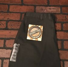 St Johns Worry Free Loose Fit Flat Front Men's Pants Size 38 x 29 Gray
