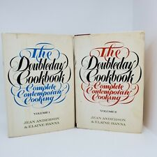 The Doubleday Cookbook Complete Contemporary Cooking Volumes 1 and 2 Dust Jacket