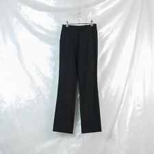 VERONIQUE BRANQUINHO black wool hem detail trousers FR 36 6 8 dries van noten