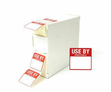 More details for use by food labels date dy054 25x25mm 1000 labels box removable food preparation