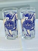 TWO-> 2020 Kentucky Derby Glasses  BRAND NEW + BEAUTIFUL GLASS!  Ready To Ship!
