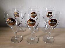 6 verres a bière à pieds PELFORTH en boîte bistrots publicitaires  (1/2)