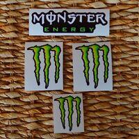 KIT SET 4 ADESIVI MONSTER ENERGY VALENTINO ROSSI MARQUEZ MOTO GP