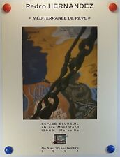 Poster art 1994 pedro hernandez exposes squirrel space to marseille/16pb