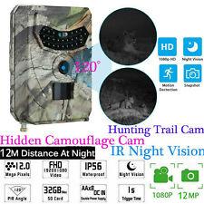 Mini 12MP 1080P Fototrappola Mimetica Caccia Videocamera IR 26LEDS Camera