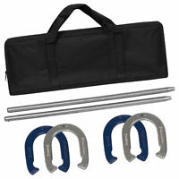 BCP Steel Horseshoe Game Set w/ Carrying Case