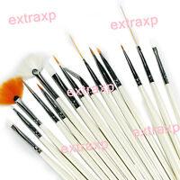 UV GEL Acrylic Nail Art Tips Design Painting Dotting Pen Brushes Tool Kit Set xp