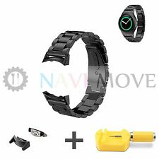 NEW Steel Watch Band Strap + Connector For Samsung Galaxy Gear S2 R730 R720 US