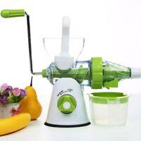 2 in 1 Desktop Manual Juicer Fruit Vegetable Juice Standmixer Ice Cream Machine