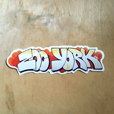 Zoo York vinyl sticker skateboard EAST NYC box logo art bumper laptop graffiti
