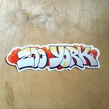 Zoo York vinyl sticker skateboard EAST NYC box logo art bumper laptop graffiti