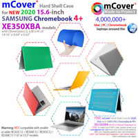 """NEW mCover® Hard Case for 2020 15.6"""" SAMSUNG Chromebook 4+ XE350XBA laptop"""