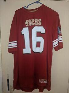 San Francisco 49ers Joe Montana #16 Men's Majestic Hall of Fame Jersey sz XL EUC
