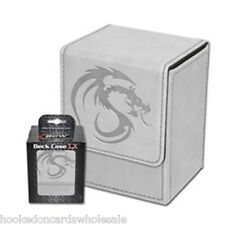 1 BCW Deck Case LX White MTG Magic the Gathering Deck Protector Box
