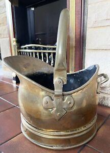 Vintage Brass coal scuttle Bucket