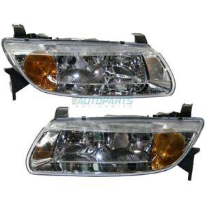 NEW LEFT & RIGHT HEAD LAMP FITS 2001-2002 SATURN L100 GM2502200 GM2503200