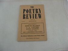 1953 Poetry Review (London) Blunden, Coppard, Golding, Thorley, Hesketh ETC