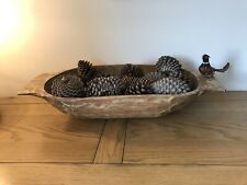 Vintage Wooden dough trough bowl trug hand carved wood