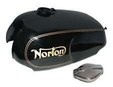 Norton Roadster Commando Fuel Tank With Filler Cap Black Paint Golden Stripe S2u