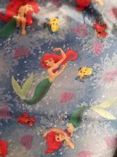 "Vintage Disney Little Mermaid Flounder Sebastian Ariel fabric piece 32"" X 60"""