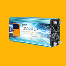 LCD 5000W LF Pure Sine Wave, Power Inverter, DC 12V to AC 230V, Charger/UPS, DE