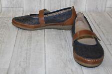 Remonte D1906 Slip Ons - Women's Size US:8/EU:39, Blue/Brown
