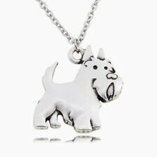 SCOTTIE, Scottish Terrier Dog Charm, Pendant with .925 Silver Necklace - T58