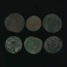 Mixed Ancient Coins Figural Roman Artifacts Lot of 6