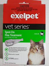 EXELPET VET SERIES SPOT ON FLEA TREATMENT FOR CATS - BRAND NEW