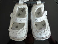 NEXT Gorgeous Little White Flower Pram / Pre Walker Shoes NWT