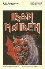 Iron Maiden 4x6 Purgatory Mini Poster Sticker Vintage 1984