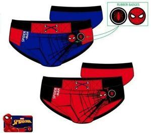 Costume da bagno bambino Spiderman slip mutandina bimbo mare piscina 3 4 6 8