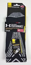 NWT 1 X PAIRS UNDER ARMOUR MEN WOMEN ARMOURGRIP SILICON PAD CREW SOCKS SZ MD D