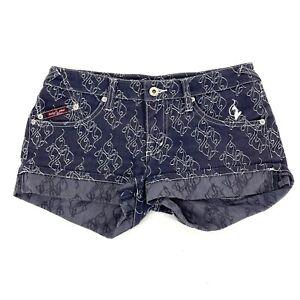Size 1 Baby Phat Jean Co Women's Dark Wash Short Denim Mini Jean ShortS C154