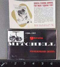 Vintage Mitchell 300 & 301 Manual & Guarantee Registration