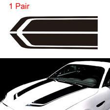 2pcs Auto Car Racing Sports stripes Hood Decals Vinyl Bonnet Stickers Black Cool