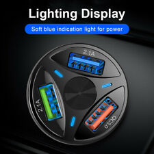 FP- 3 Ports USB Car Charger Adapter LED Display QC 3.0 Fast Charging for IOS And
