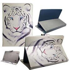 Housse Etui Tablette Archos Universelle - 10.1 Pouces - Design Tigre Blanc