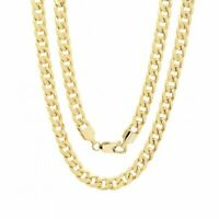 """14K Solid Yellow Gold Cuban Link Chain Necklace 16""""- 30"""" Men's Women"""
