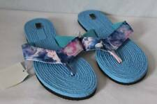 NEW Womens Shoes Sandals Small 5 - 6 Slip On Flip Flops Blue Tie Dye Summer