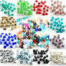 100Pcs Faceted Glass Crystal Loose Beads Spacer Bicone Findings 60Colors 6mm