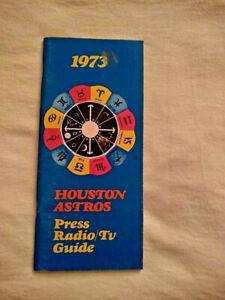1973 Houston Astros Press/Radio/Tv Media Guide