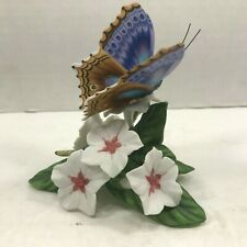 Lenox Butterfly and Flower Figurine Blue Temora