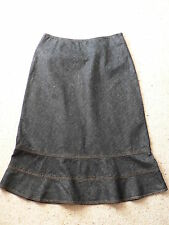 Mid-Calf A-Line Solid 100% Cotton Skirts for Women