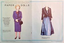 Margaret Thatcher Magazine Paper Doll, 1991, International Doll World