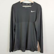 NIKE Mens Size L Grey Zonal Cooling L/S Running Top