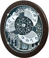 Rhythm Clocks Marble Stars Magic Motion Clock (4MH431WU23)