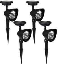 4x Solar Spot Light Outdoor Garden Lawn Landscape LED Spotlight Path Lamp 4-LED