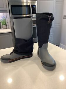 Rocky Men's RODR1446A Insulated Gray & Black Rubber Outdoor Boots 9M