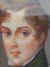 Superbe portrait miniature l'Aiglon Napoléon François Charles Joseph Bonaparte